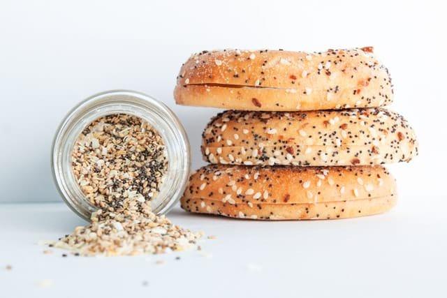 3 grain vegan bagels