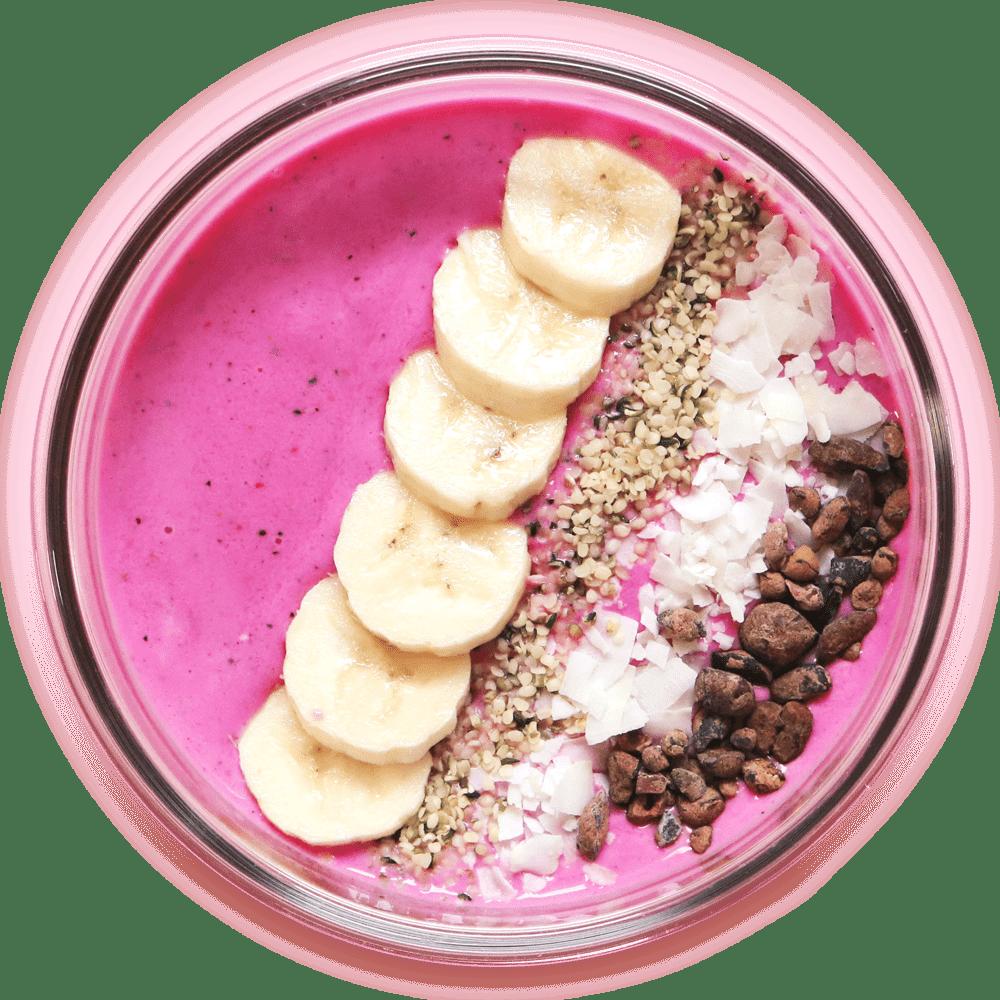 plant-based pink buddha bowl