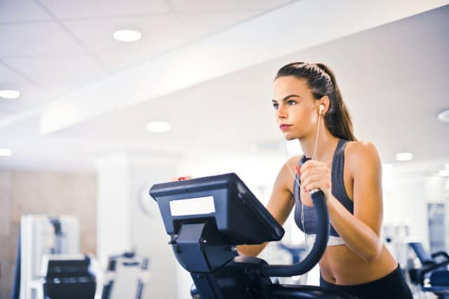 healthy young female working out