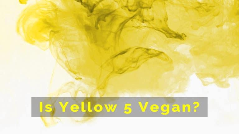 is yellow 5 vegan?