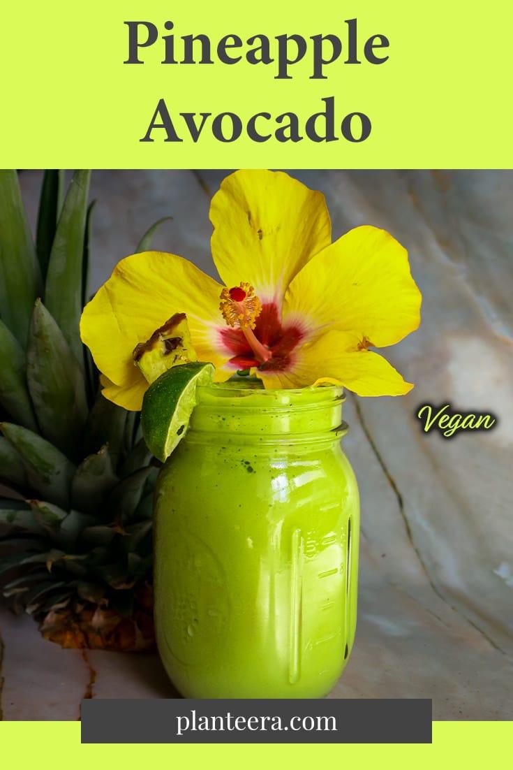 Pineapple Avocado Vegan Smoothie