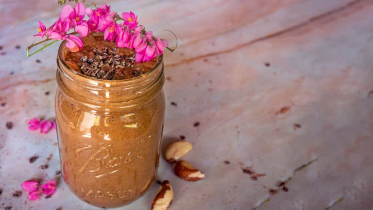 rocky road cacao vegan and plant-based smoothie